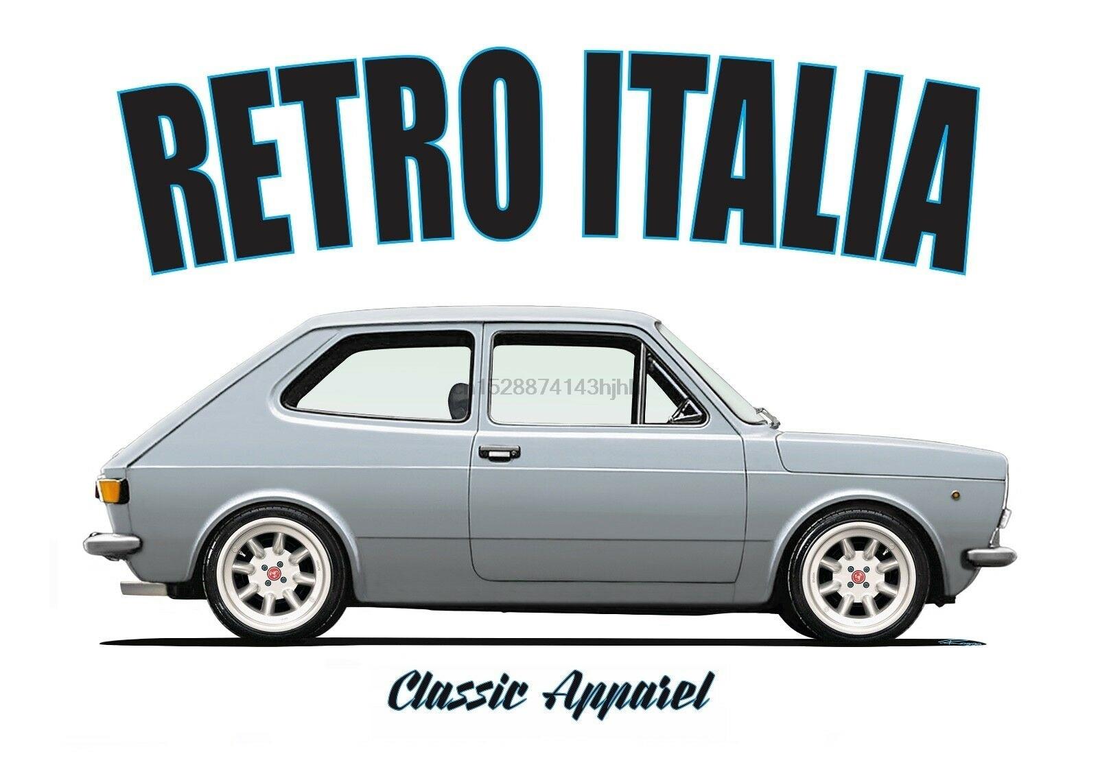 Футболка FIAT 127 SERIES 1. Ретро Италии. Классических автомобилей. ABARTH. Модифицированный|Футболки|   | АлиЭкспресс