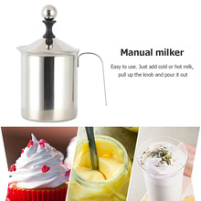 Foamer-Maker Kitchen-Tools Coffee Stainless-Steel Manual Double-Mesh 400/800ml -38