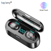Bluetooth 5,0 наушники 9D стерео музыка Спорт Беспроводные наушники с микрофоном гарнитура 2000 мА портативное зарядное устройство для iPhone Samsung