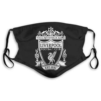 Liverpool Football Print Mask with PM2.5 Carbon Filter 5 Layers of Protection Unisex Reusable Anti-Dust Mask Support Customized reusable sponge mask inner cushion support protect mask filter covers reusable anti dust core mask filter support f