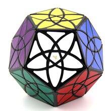 Mf8 bauhinia megaminxeds cubo mágico 3x3 dodecaedro starminx distorcido velocidade profissional quebra-cabeça brinquedos educativos para crianças