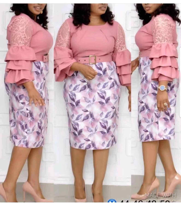 4 цвета (L-XXL) новая африканская женская одежда кружевная панель лист печати торт вышитые тонкие платья