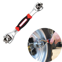 Tiger Wrench 48 in 1 Tools Socket Works with Spline Bolts Torx 360 Degree 6 Point Universial Furniture Car Repair 25cm only red