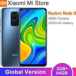 Глобальная версия смартфона Xiaomi Redmi Note 9, 3 ГБ, 64 ГБ, 48 МП, четыре камеры, 6,53