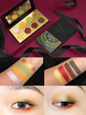High Quality Cat Style 8 Colors Waterproof Long Last Makeup Eyeshadow Palette Matte Shimmer Eye Shadow Palette Pigmented