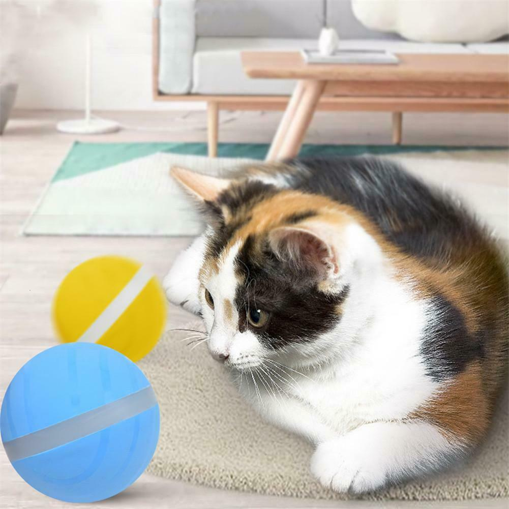 1Pcs USB electric magic pet ball dog cat automatically play ball jump pet toy funny training toy accessoriesMU