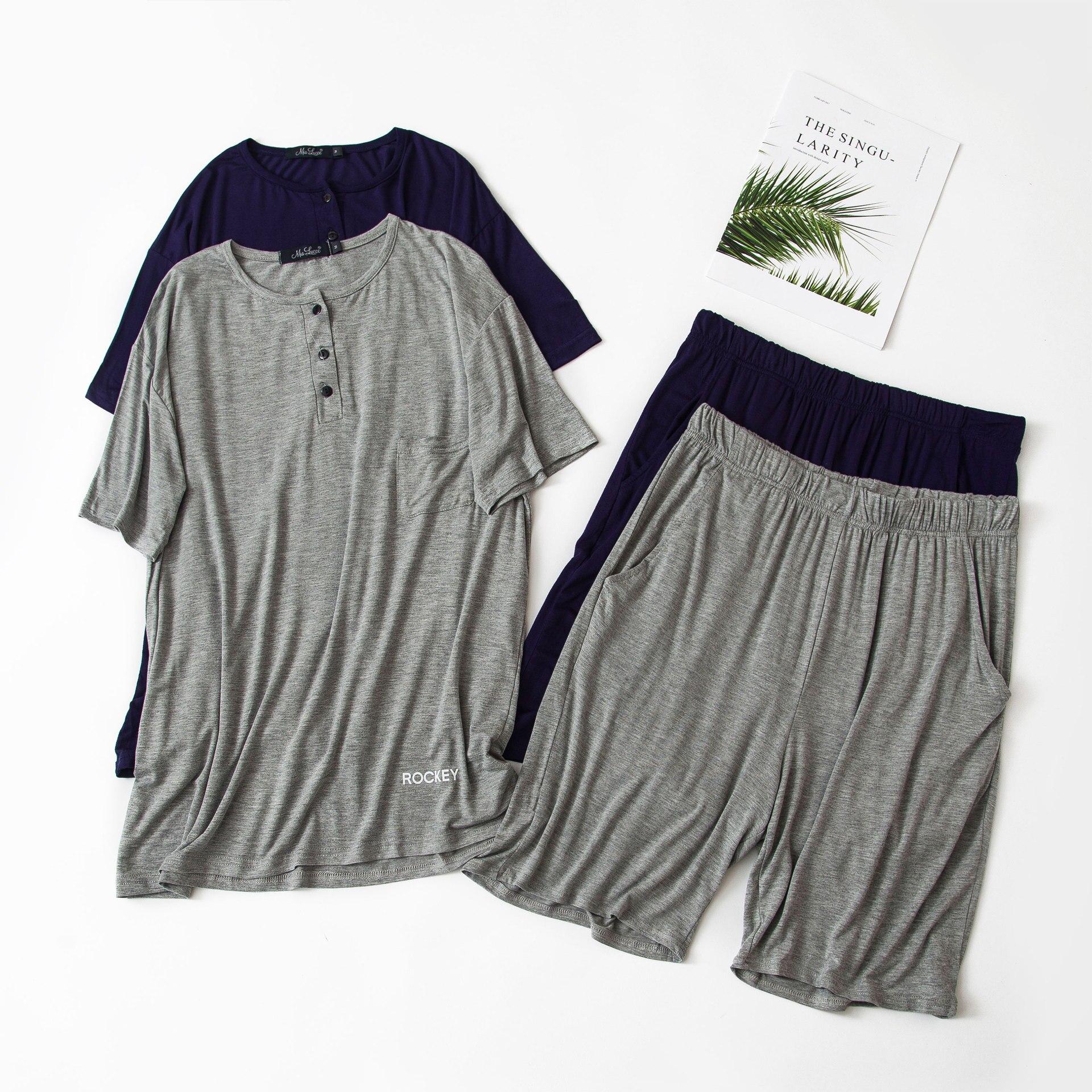 2020 New Modal Material  Pajama Set Pijamas Man Nightwear Men Mens Sleepwear 2611