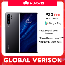 Global Versie Huawei P30 Pro 6Gb 128Gb Kirin 980 Octa Core Smartphone 50x Digitale Zoom Quad Camera 6.47 ''Inch Oled Mobiel