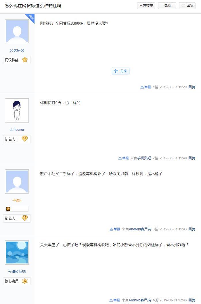 网传陆金所网贷二手标小散户已经无法购买图片 No.2
