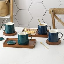 Porcelain Tea Coffee Mug with Spoon and Lid Coaster, Tea Cup Steeper Maker Tea/Coffee/Milk/Women/Office/Home/Gift goalone 350ml ceramic coffee mug with wood handle nordic tea cup with lid and spoon travel coffee cup drinkware for home office