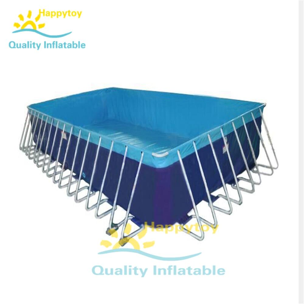Portable PVC Tarpaulin Pool Custom Above Ground Metal Steel Frame Swimming Pools
