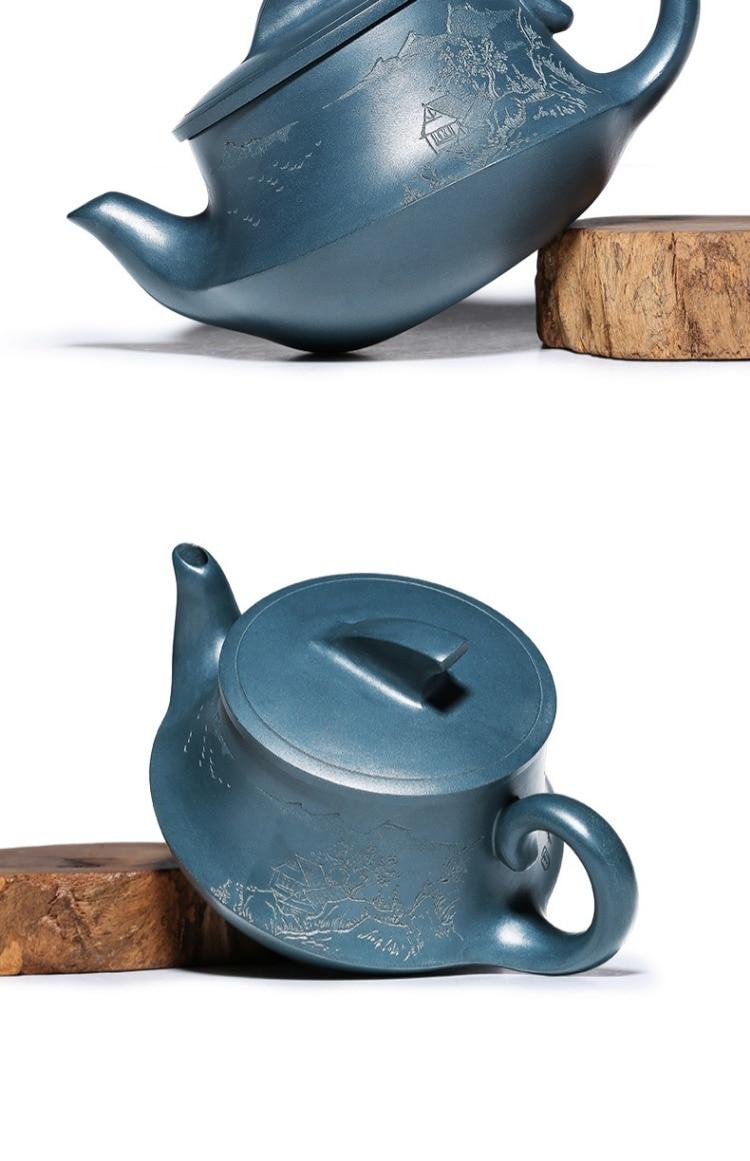Yixing purple clay bule, pure artesanal de