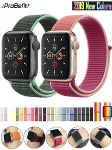 Band Replacement-Strap Watch-Series Sport-Loop Apple Nylon 44MM Breathable for 3/2/1-38mm