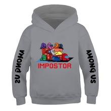 Fashion Hoodie Among Us Cartoon Sweatshirt Streetwear Hip-Hop-Game Anime Girl Boy Kid