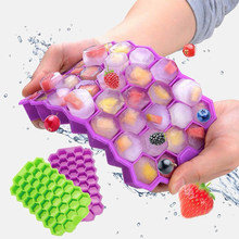 37 kreative Ice Cube Honeycomb Tablett Silikon Form DIY Form Ray Creme Party Bar Kalten Werkzeuge Maker Popsicle Kichen Zubehör(China)