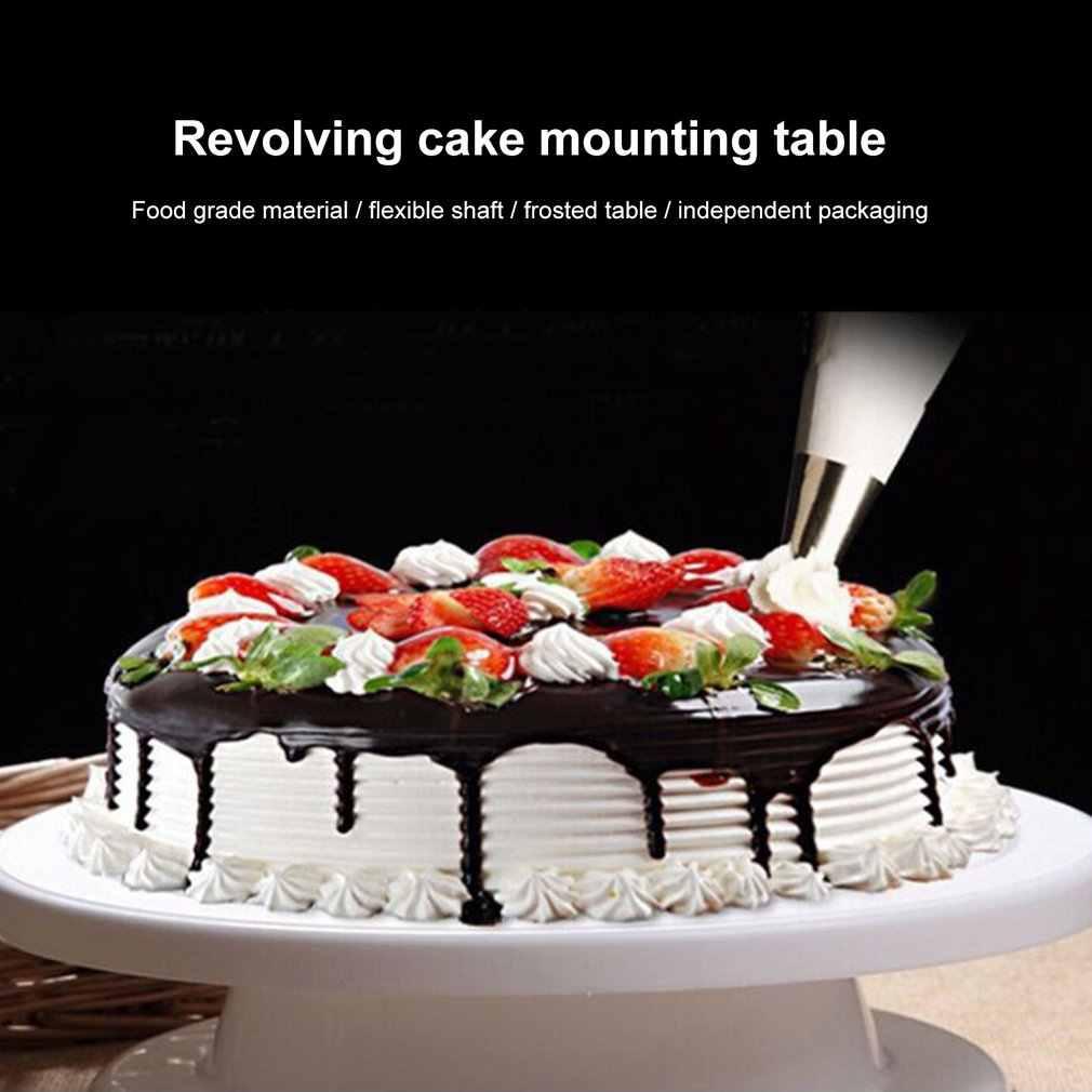 10 polegada carrinho de bolo mesa giratória conjunto plataforma cupcake placa giratória bolo cozimento ferramentas de decoração kit