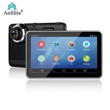 7 pulgadas Android con Bluetooth wifi Quad-core 1,3 GHz GPS navegación 1080p cámara grabadora vehículo GPS navigator 1080P grabador coche dvr
