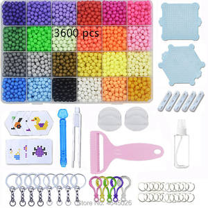 Kids Toys Pegboard-Kit-Accessories Beads-Set Girls Gift Magic-Water Creative DIY Children