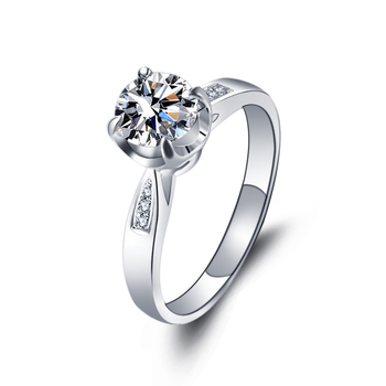 1 Carat 18k Gold Diamond Engagement Ring