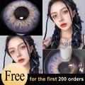 Цвет контактные линзы для глаз Рождественский Цвет линзы ed мягкие супер-тонкий Acuvue линзы Красота контактные линзы для глаз, синего и коричн...