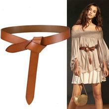 EWQ – ceinture à nouer en cuir pour femme, accessoire de haute qualité, tendance, polyvalent, Long, nouvelle collection automne 219