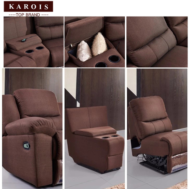 Karois R778 Home Theater Cheers Function Sofa Recliner Fabric Leather Sofa 4 Electric Recline Function 3