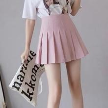 Pleated Skirt Sexy Women Summer High Waist Chic A Line Ladies Mini Skirt Korean Zipper Preppy Style Girls Dance Skirt
