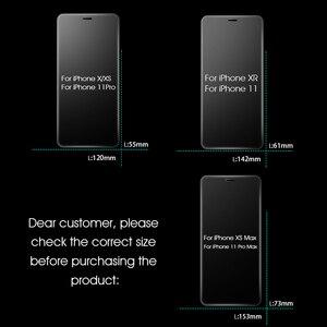 Image 4 - 3 pièces couverture complète verre trempé sur pour iPhone 11 Pro Max protecteur décran iPhone X XR XS Max Film de protection en verre bord incurvé