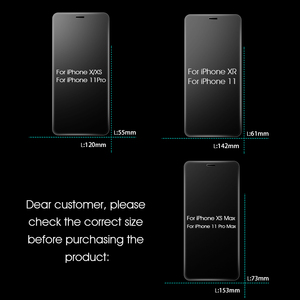 Image 4 - 3Pcs Full Cover Tempered glass on For iPhone 11 Pro Max Screen Protector iPhone X XR XS Max Protective Glass Film Curved edge
