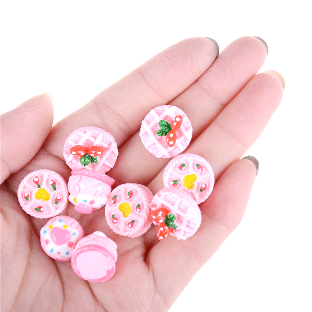 3PCS Cute Cakes 1:12 Dollhouse Miniature Cakes Food Models Dollhouse Accessories Kitchen Food Toys