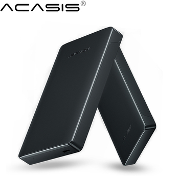 Acasis HDD Case 2.5 SATA to USB 3.0 Hard Drive Enclosure for SSD Disk HDD Box Type C 3.1 Case HD External HDD Enclosure tool free 10gb s usb 3 1 type c hdd enclosure with ventilation holes sata 3 0 ssd mobile box usb c to sata 6gb s case asm1351