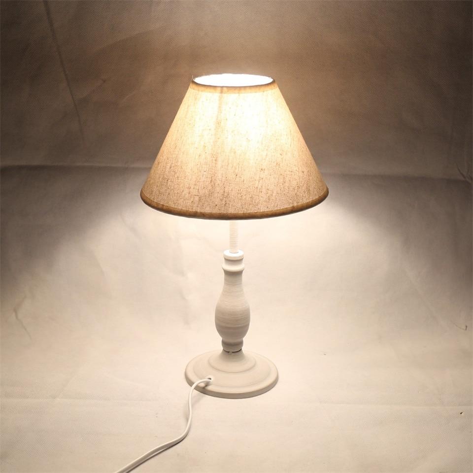 Image 3 - E14 Table Lamp 40w Small  Beige Beside lighting for Bedroom reading LED Bulb Warm White Eye Care Night Light DecorationLED Table Lamps   -
