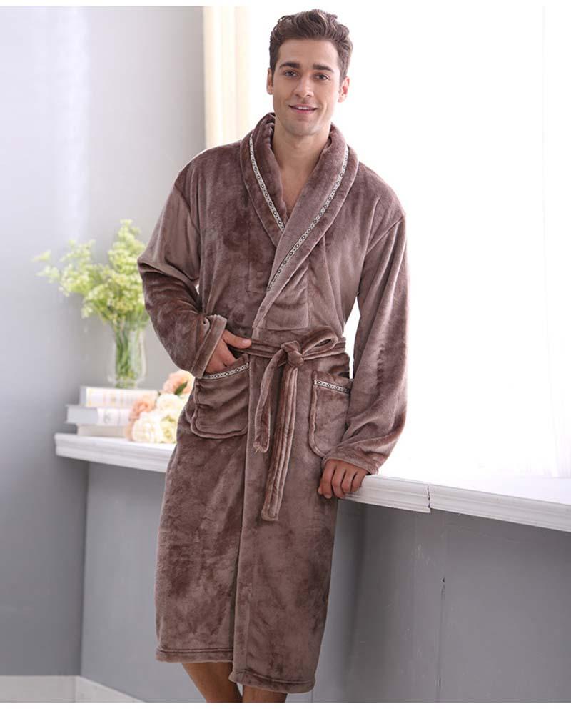 Autumn and winter coral fleece velvet bathrobe robe thickening flannel robe bathrobes men lounge sleepwear bathrobes male
