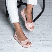 2019 Fashion Candy Color Women Sandals Flip Flops Summer Rome Slip-On Breathable