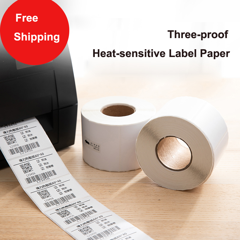Three-proof Thermal Paper 40X60mm Cash Register Paper Thermal Barcode Paper Label Printing Paper
