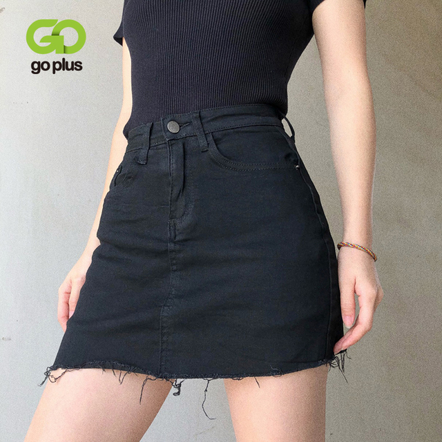 GOPLUS Women Denim Shorts Skirts High Waisted Shorts Black White Summer Clothes Mujer Female Jeans Spodenki Ropa Mujer C9806 1