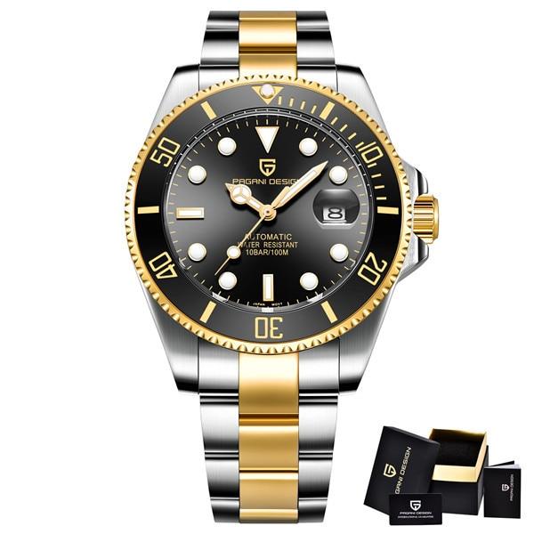 PAGANI DESIGN Men Watches Top Brand Luxury Sapphire 100 m Waterproof Seiko Movement Watches Men Automatic Mechanical Wrist watch | Fotoflaco.net