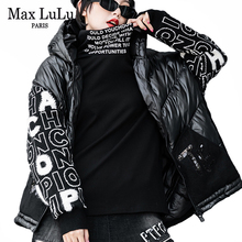 Jackets Max-Lulu Padded Hooded-Coats Streetwear Vintage Korean Designer Plus-Size Womens