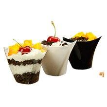 50 шт. белый/прозрачный/черный 100 мл одноразовый лед кремовый стакан креативные вечерние подарки на день рождения десерт торт Декор пластиковые чашки