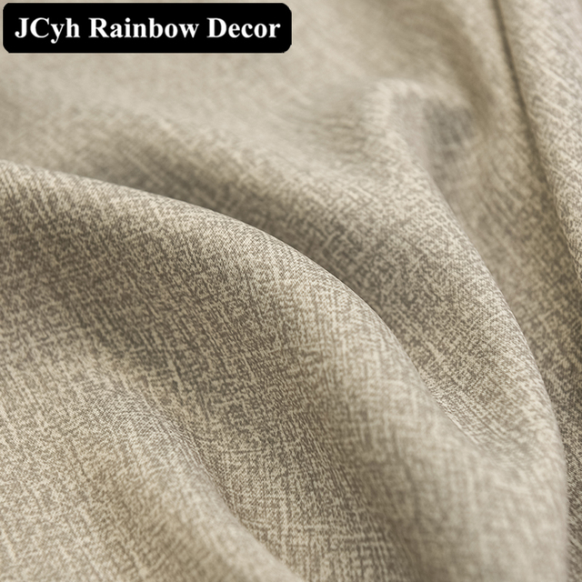 Modern Thick Solid Blackout Curtains 5