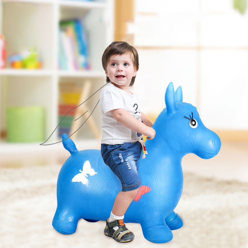 Children's Inflatable Toys Jumping Vault Outdoor Increase Thickening Riding Pony Baby Jumping Vault Jumping Deer