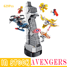 Blocks MOC Upgraded Version Super Heroes Iron man Fit  Avenger Tower Endgame Building Blocks Bricks Boy Kids Gifts Toys