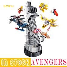 בלוקים MOC גרסה משודרגת סופר גיבורי ברזל איש Fit נוקם מגדל סוף המשחק בניין בלוקים לבני ילד ילדים מתנות צעצועים