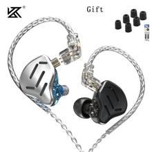 Kz zax 7ba 1dd 16 unidade híbrido in-ohr fones de ouvido metall alta fidelidade fone de ouvido música esporte kz zsx zs10 pro