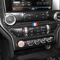1pc Anti shock Effect Car Multimedia Console Decorative Sticker Carbon Fiber Black For Ford Mustang 2015 2017 Auto Accessories