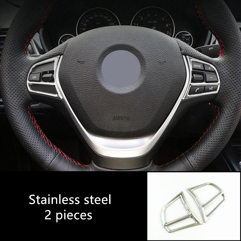 Car Styling Steering Wheel Buttons Cover <font><b>Stickers</b></font> Trim For <font><b>BMW</b></font> 1 2 3 4 Series F20 <font><b>F21</b></font> F30 F32 3GT F34 Interior Auto Accessories image