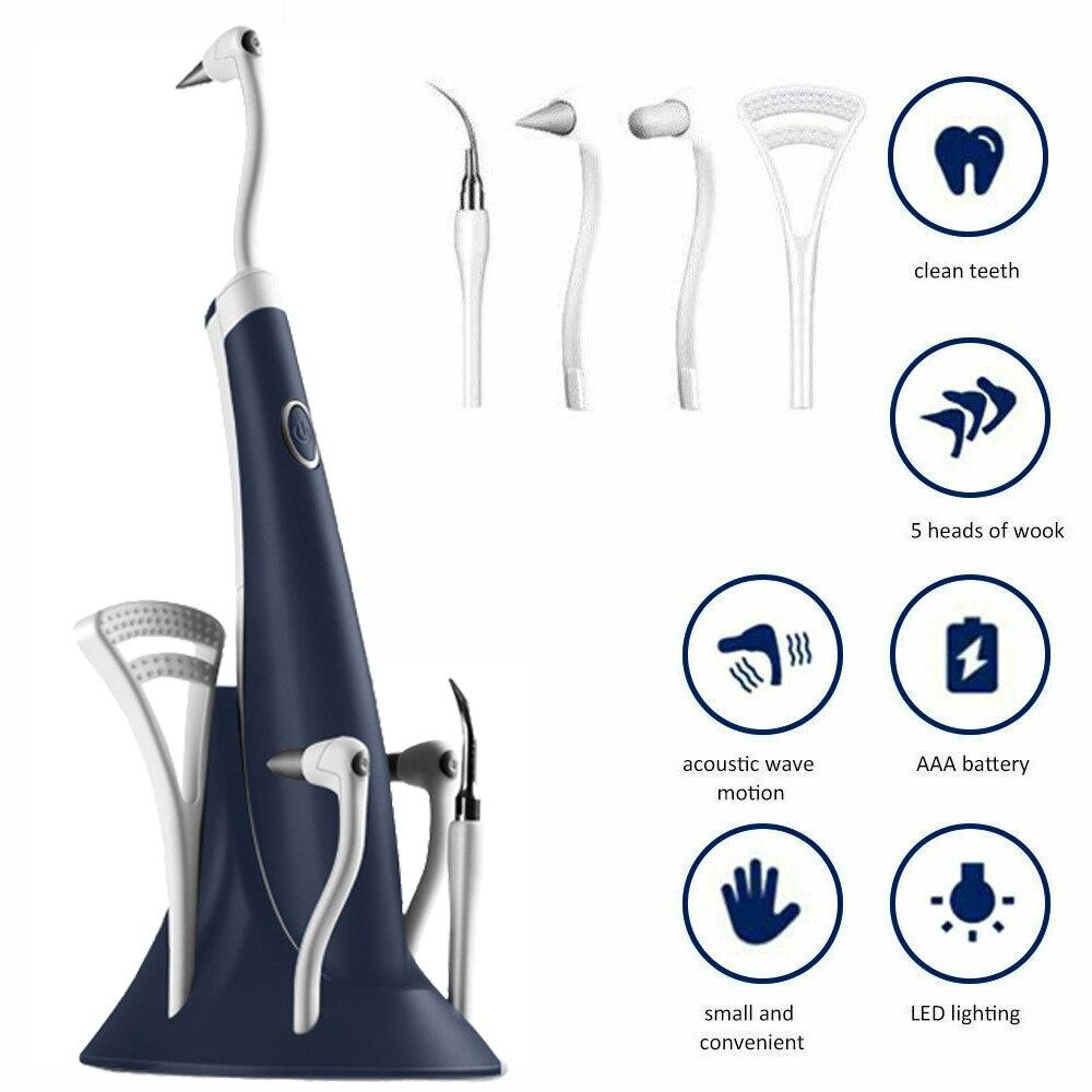 5 em 1 elétrica scaler dental ultra sônico universal dente mais limpo de alta frequência dente mancha removedor dental dentes branqueamento conjunto