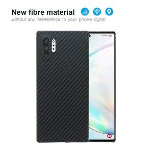 Image 5 - Чехол для телефона из углеродного волокна для Samsung note10 Galaxy note10 Plus, тонкие и легкие атрибуты, полукруглый материал арамидного волокна