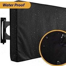 Напольный чехол для телевизора от 30 до 58 дюймов Оксфорд черный чехол всепогодный пыленепроницаемый Материал защитный ЖК-светодиодный чехо...