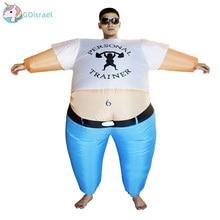 Inflatable Personal Trainerเครื่องแต่งกายStrong Manผู้หญิงผู้ใหญ่ฮาโลวีนCarnival Cosplay Blow UpชุดแฟนซีJumpsuit